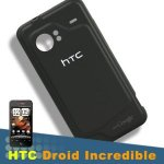 Original Genuine OEM HTC Droid Incredible Adr6300 Black Battery Back Door Cover Fix Plate Panel Repair Replace Replacement