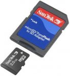 SanDisk 2 GB Mobile microSD Flash Memory Card with Adapter