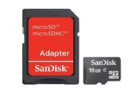 SanDisk 16 GB Mobile microSDHC Flash Memory Card with Adapter